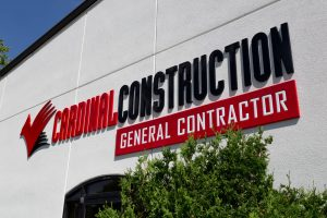 Channel Letter Building Sign for General Contractor